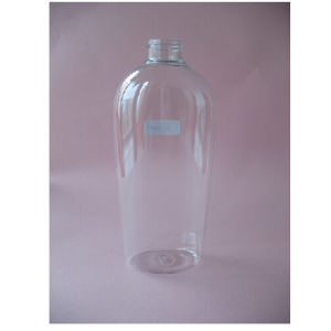 400ml Clear Flat Shampoo Bottle Without Pump pictures & photos