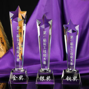 Wholesale Cheap Crystal Glass Trophy pictures & photos