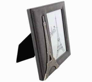 Leather Photo Frame with Eiffel Tower Decoration pictures & photos