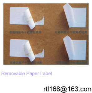 Production Supplies for The Removable Paper Self-Adhesive Sticker pictures & photos