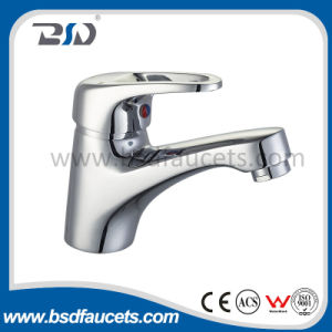 Baisida Cheaper Price Saver Water Single Lever Handle Hole Deck Mounted Brass Basin Mixer with Chrome Surface pictures & photos