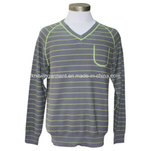 Men Knitted Sweater Clothes in V Neck Long Sleeve (M15-047) pictures & photos