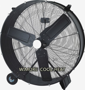 Durable Stainless Floor Fan Drum Fan with Wheels pictures & photos