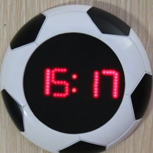 Novelty Football Frame LED Digital Clock pictures & photos