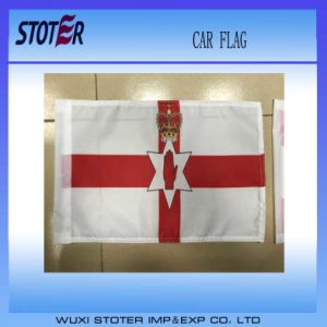 Printed Polyester Car Flags with Plastic Pole
