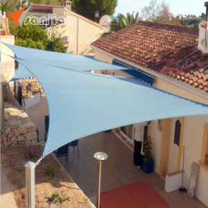 UV Stabilized 100% Virgin HDPE Garden Sun Shade Sail (Manufacturer)