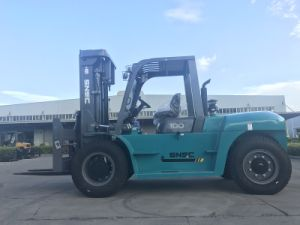 Chariot Elevateur 10tone Fork Lifter Diesel Truck Forklifts pictures & photos