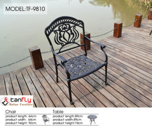 Heavy-Duty All Weather Resistant Round Dining Table and Chairs Outdoor Patio Garden Metal Cast pictures & photos