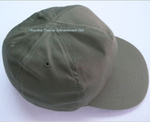 TC65/35 Navy Green Baseball Caps with 6 Panels (V12005) pictures & photos