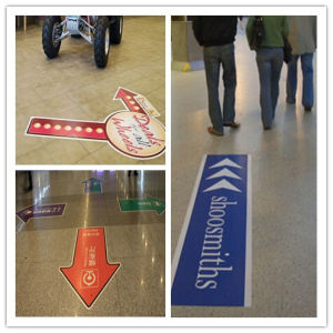Digital Printing Removable Floor Graphics Colorful Vinyl Flooring Sticker pictures & photos