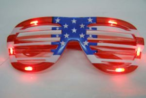 Party Celebration LED Flashing Glass (American Flag) pictures & photos