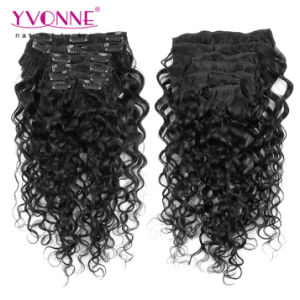 Peruvian Human Hair Clip in Extensions pictures & photos