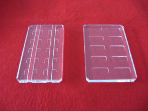 Customized Clear Quartz Plate with Groove pictures & photos