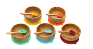 Bamboo Infant Feeding Bowl Baby Suction Bowl pictures & photos