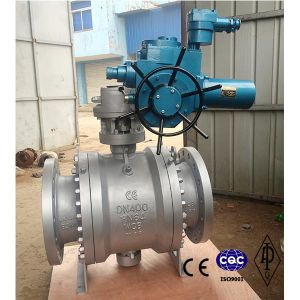 Wcb/Stainless Steel Flanged Electric Ball Valve Pn64 Dn400 pictures & photos