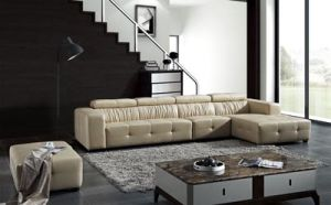 L Shape Corner Sofa with Genuine Leather pictures & photos