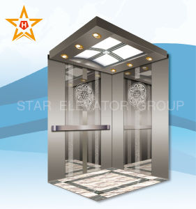 Mirror Etching Passenger Lift with En81 Standard Xr-P09 pictures & photos