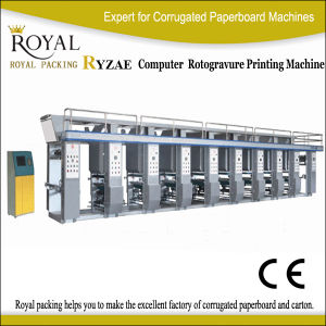 Ryzae Moderate Speed Computer Middle Rail Gravure Machine pictures & photos
