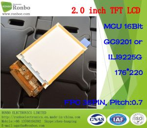 "2.0"" 176X220 MCU 16bit 36pin TFT LCD Monitor for POS, Doorbell, Medical pictures & photos"