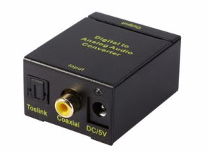 Digital Coaxial Toslink Optical to Analog L/R RCA Audio Converter Adapter 3.5mm pictures & photos