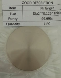 Nickel Target for Sputtering pictures & photos