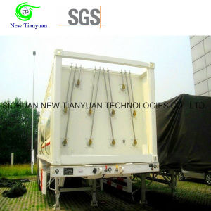 9 Jumbo Cylinders CNG Natural Gas Storage Container Trailer pictures & photos