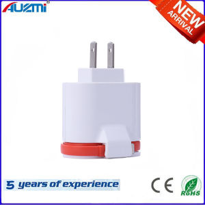 Dual USB Travel Charger with Us Plug and Cable pictures & photos
