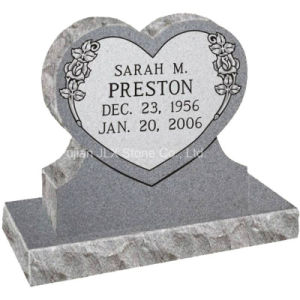 G633 Granite Double Heart Design Monument for Cemetery pictures & photos