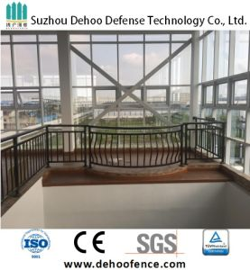 Popular Bronze Powder Coated Quality Cambered Protective and Decorative Balcony Fence pictures & photos