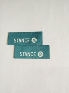 Hot Cut Damask Garment Woven Label pictures & photos