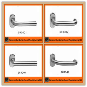 Factory Price Stainless Steel Oval Cover Door Handles pictures & photos