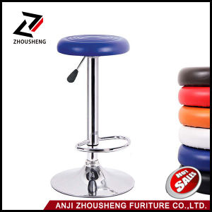 PU Leather Round Seat Simple Design Barstools Bar Stool Chair Round Seat Pub Chair pictures & photos
