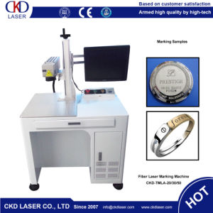 Open Worktable Fiber Laser Marking Machine for Wrist Watch pictures & photos