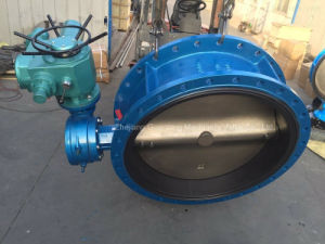 Electric Actuator Flanged Butterfly Valve (D941X) pictures & photos