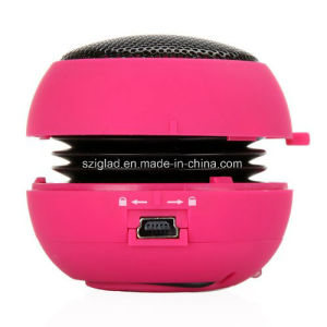 Mini Hamburger Shape Portable Wireless 3.5mm Plug USB Mobile Speaker pictures & photos
