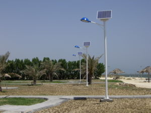 7-8m Waterproof Solar LED Street Light with Pole pictures & photos