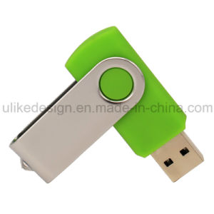 Creative Promotional Gift for Logo Print Swivel USB Flash Disk Flash Drive (UL-P010) pictures & photos