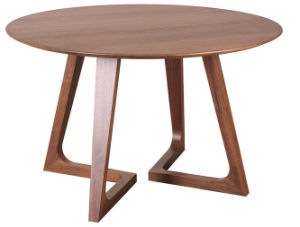 Modern Wooden Design Round Restaurant Dining Table pictures & photos
