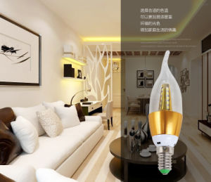 High Brightness Indoor Candle Lamp 140*35mm 7W LED Bulb pictures & photos