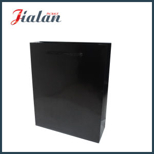 Wholesale Black Paper Printed Gift Packing Shopping Carrier Gift Bags pictures & photos