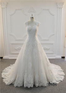 Elegant Long Ivory Ball Gown Wedding Dress 2017 Lace Prom Dresses pictures & photos
