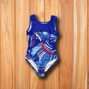 Blue Color Girl′s Gymnastic Leotards pictures & photos