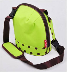 Korean 300d Green Insulated Ice Cooler Bag with Should Strap pictures & photos