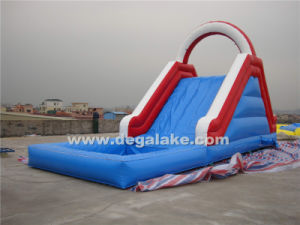 Funny Inflatable Single Lane Water Slide for Kids
