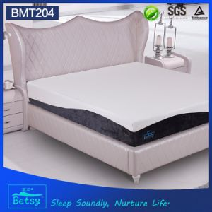 OEM Compressed Memory Foam Mattress 25cm High with Gel Memory Foam and Knitted Fabric Zipper Cover pictures & photos
