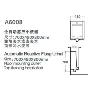Cheap Automatic Sensor Urinal One-Piece Ceramic Urinal pictures & photos