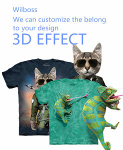 Specializing in The Production 3 D Animal Luminous T-Shirt of Men′s [Can Be Customize]