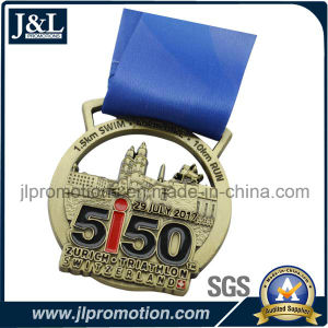 Custom Sport Event Medal Antique Brass Plated Ribbon Available pictures & photos