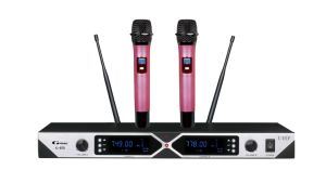 Two Channels UHF Wireless Handheld Microphone K-870 pictures & photos