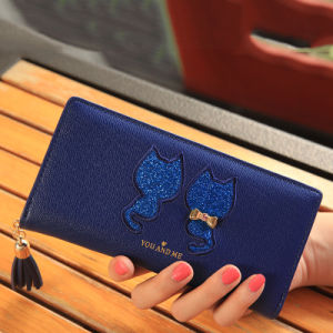 Cute Cats Embroidery Logo Print Girls Fashion Wallet pictures & photos